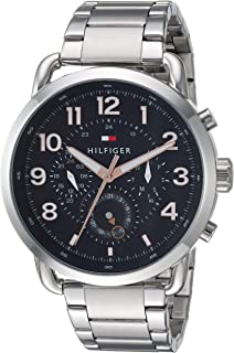 Tommy Hilfiger Men's Quartz Watch with Stainless-Steel Strap, Silver, 21.1 (Model: 1791422)