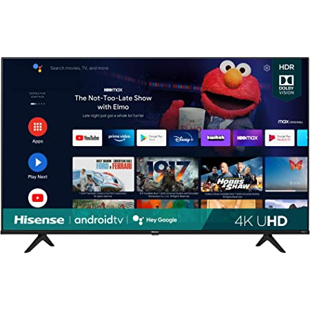 Hisense 43A6G 43-Inch 4K Ultra HD Android Smart TV with Alexa Compatibility (2021 Model)