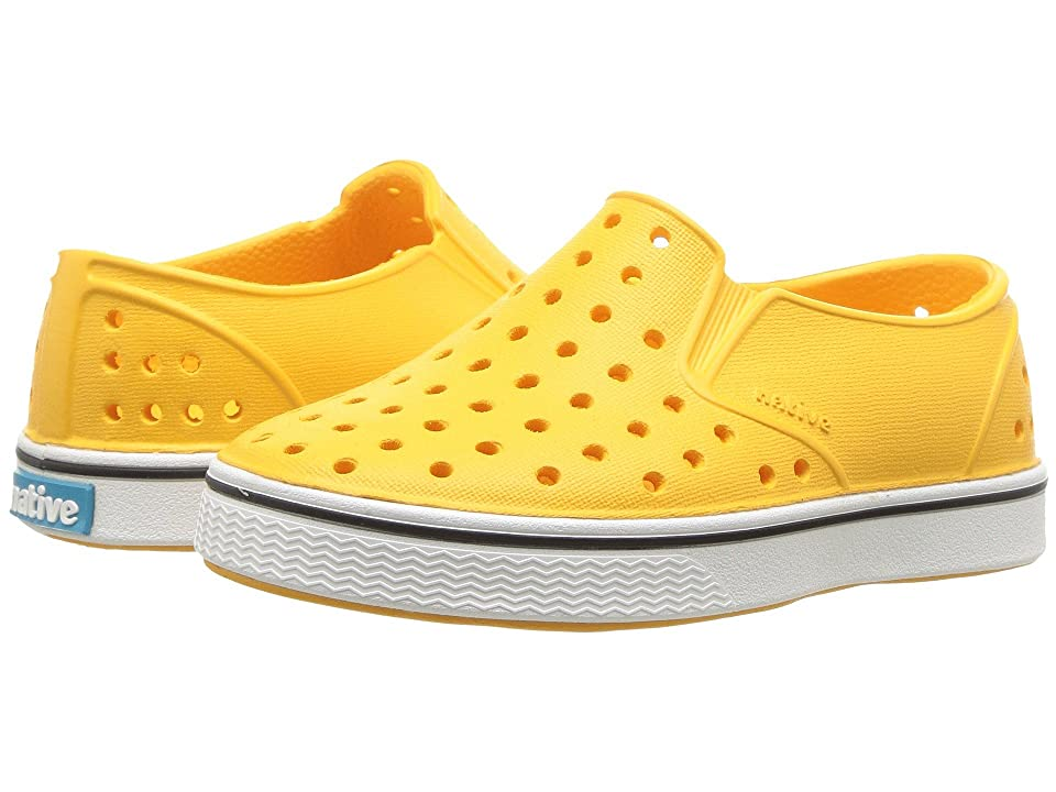 Native Kids Shoes Miles Slip-On (Toddler/Little Kid) (Beanie Yellow/Shell White) Kids Shoes