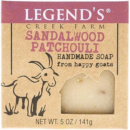 Legend's Creek Farm, Goat Milk Soap, Creamy Lather and Nourishing, Handmade in USA, 5 Oz Bar (Sandalwood Patchouli O.S.)