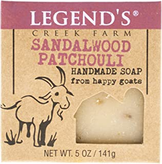 Sandalwood Patchouli Goat Milk Soap - 5 Oz Bar - Great For Sensitive Skin - Certified Cruelty Free