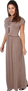Krisp Womens' Long Casual Loose Dress Short Sleeve Or Sleeveless Maxi
