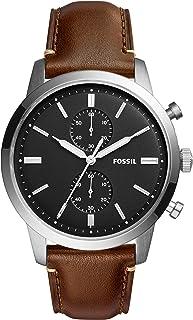 Fossil Men's FS5280 Townsman 44mm Chronograph Brown Watch