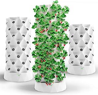 برج هيدروبونيكس نظام النمو المائي | مجموعة نمو طائرات برج الحديقة للاستخدام في الأماكن المغلقة أو الهواء الطلق - الأعشاب و...