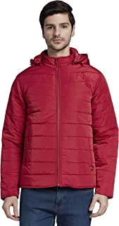 Parx Solid Medium Red Coloured Polyester Jacket