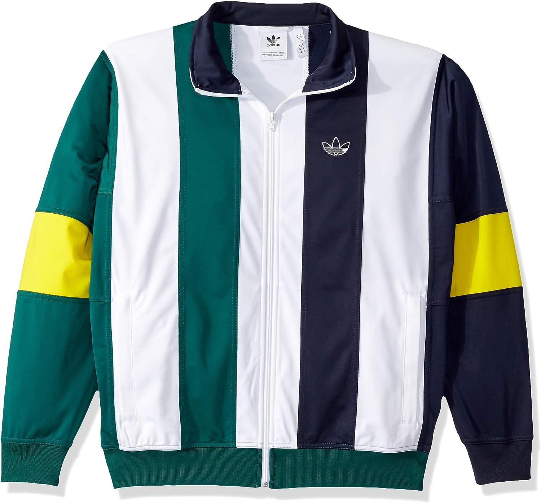 rivista Aggrovigliati Rappresentare  adidas Originals Men's Bailer Track Top Jacket, legend Ink/white/collegiate  green, Large at Amazon Men's Clothing store