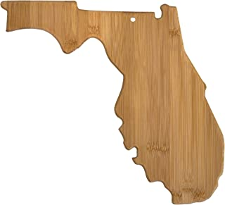 Totally Bamboo 20-7964FL Florida State Shaped Bamboo Serving & Cutting Board,
