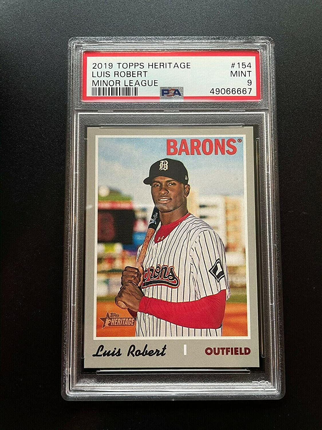 2019 LUIS ROBERT ROOKIE Topps Heritage White Sox PS Minor New mail order League Boston Mall