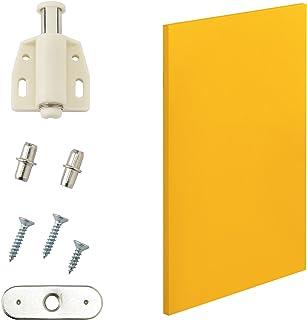 [en.casa] Porte d'armoire Moderne - Porte pour systéme d'étagére - 27x42 cm - moutard