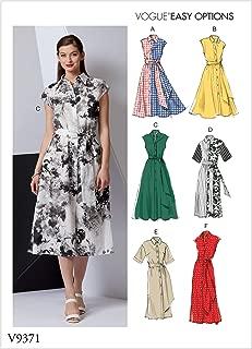 Vogue Patterns-V9371-MISSES-DRESS,纸张,白色,各种