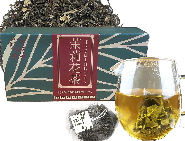 Chinese Superlatite Diet Jasmine Green Tea Bags Decaffeinated Organic Co Deluxe