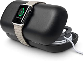 Twelve South TimePorter for Apple Watch, Black   Apple Watch Accessory Travel case + Bedside Charging Stand (Renewed)