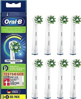 Oral-B CrossAction opzetborstels met CleanMaximiser-borstelharen voor superieure reiniging, 8 stuks