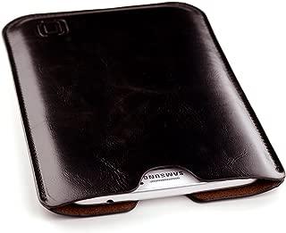 Dockem Executive Sleeve for Samsung Galaxy Tab S 8.4, Tab 3 8.0, Tab 4 8.0: Premium Synthetic/Vegan Leather Tablet Case with Microfiber Felt Lining (Dark Brown)