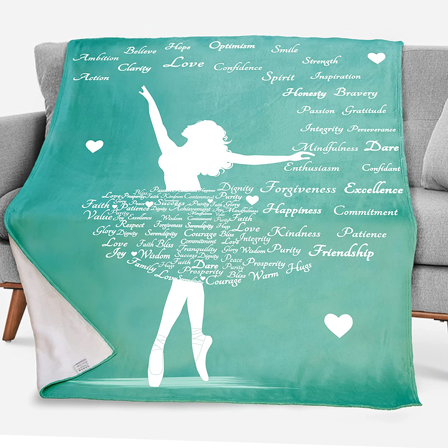Dorr Purchase Gift Clearance SALE! Limited time! Inspirational Healing Blanket Throw - Well Caring Get