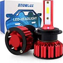 H7 Car LED Headlight Bulbs Conversion Kit, SNOWLUX Q6 Series Low Beam/Fog Light Bulb- 6000LM 6000K Cool White
