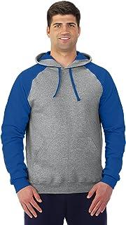 Jerzees NuBlend Men's 8oz 50/50 Colorblock Raglan Hoodie Sweatshirt