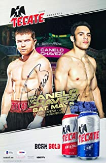 'Saul' Canelo Alvarez & Julio Cesar Chavez Jr. Signed 11x17 Poster/Photo BAS - PSA/DNA Certified - Autographed Boxing Photos