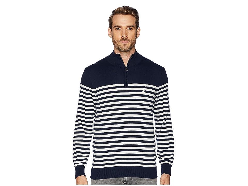 Nautica 12 Gauge 1/2 Zip Bretton Sweater (Navy) Men
