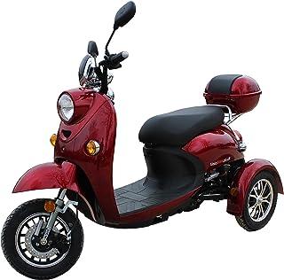 40d965d387d Elegante Retro Scooter Electrico 3 ruedas adulto Movilidad Reducida  Minusválido para Mayores Vespa Recreativo 650W 25