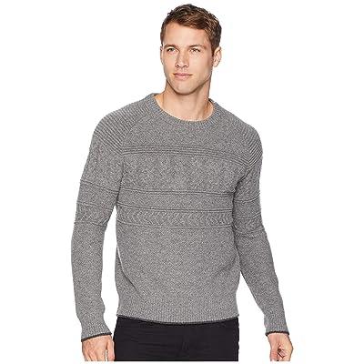 Obermeyer Textured Crew Neck Sweater (Zinc Grey) Men