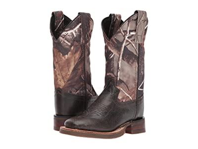 Old West Kids Boots Broad Square Toe (Toddler/Little Kid) (Chocolate) Cowboy Boots