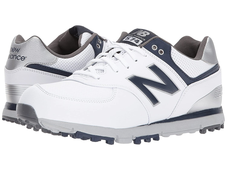 (ニューバランス) New Balance メンズゴルフシューズ?靴 NBG574 SL White/Navy 12 (30cm) EE - Wide
