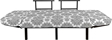 Ambesonne Mandala Futon Couch, Middle Eastern Mosaic Design Secret Body and Mandala Motif Active World Image, Daybed with Met
