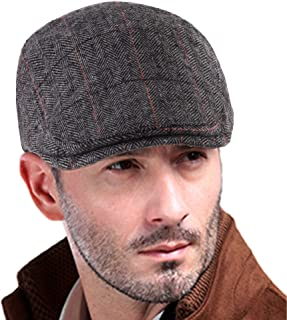 VIJIV Men's Newsboy Caps Classic Cotton Vintage Flat Driving Hat Gatsby Cabbie Cap