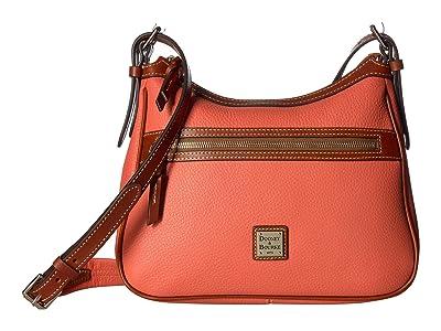 Dooney & Bourke Pebble Piper (Coral/Tan Trim) Handbags
