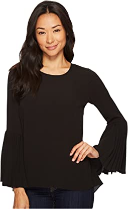 Vince Camuto Specialty Size - Petite Pleated Bell Sleeve High-Low Blouse