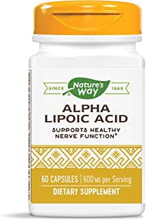 Nature's Way Alpha Lipoic Acid, 600 mg per serving, 60 Count