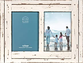 Prinz Homestead Collage Picture Frame, 5 x 7, Distressed White