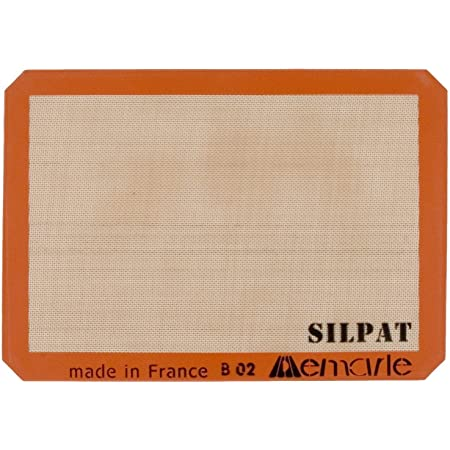 Silpat Half Size 11.6 x 16.5 Inch Nonstick Baking Mat for 13 x 18 Inch Pans, Set of 2
