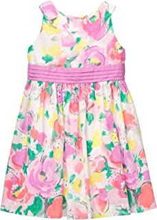 Baby Girls Sleveless Floral Print Dress