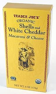 Trader Joe's Organic Shells & White Cheddar Macaroni & Cheese 6oz each (3 Pack)