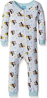 Disney Baby Mickey Mouse - Pajama de algodón para niño, diseño de Mickey Mouse, Color Blanco