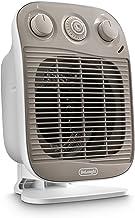 DeLonghi HFS50D22 - Calefactor (Calentador de ventilador, 24 h, IP21, Interior, Piso, Blanco)