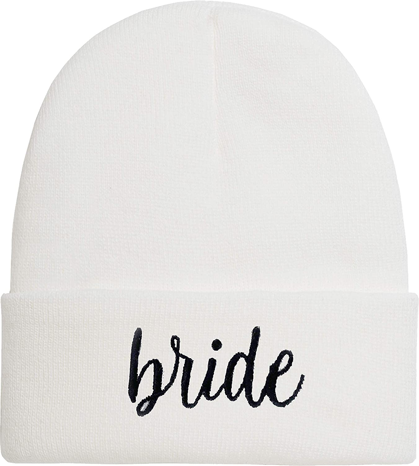 Bridal Beanie - Bride - White (Black Letters) : Clothing, Shoes & Jewelry