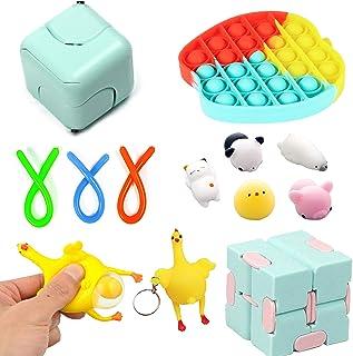 10 Pcs Sensory Fidget Toys Set kit,Stress Relief and Anti-Anxiety Tools Bundle Sensory Toys Set Sensory Therapy Toys for A...