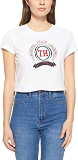 Tommy Hilfiger Women's WW0WW23682-White T-Shirts