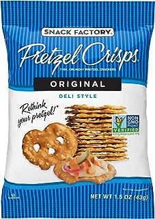 Snack Factory Pretzel Crisps, Original, Single-Serve 1.5 Ounce (Pack of 24)