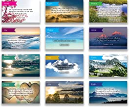 Logos Trading Post Pass Along Scripture Card Variety Pack   12 Hand Picked Desings   5 of Each Design   Themes: Faith, Hope, Joy, Peace   Pack of 60 - Assortment 11