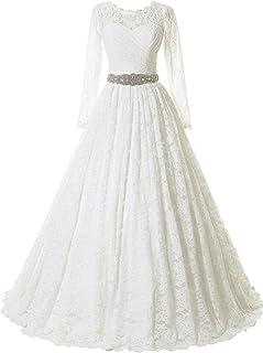 Amazon Com Wedding Dresses Long Sleeve Wedding Dresses Dresses Clothing Shoes Jewelry