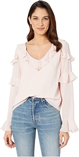 Tier Ruffle Long Sleeve Blouse