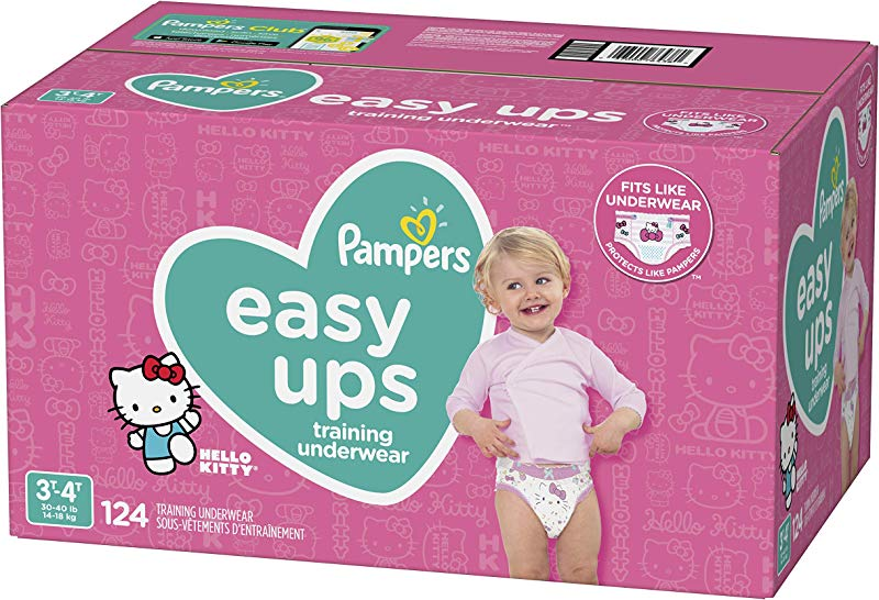 Pampers Easy Ups Pull On Disposable Potty Training Underwear For Girls Size 5 3T 4T 124 Count