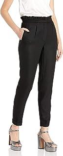 Dear Drew by Drew Barrymore Women's Arthur Ave High Waist Ruffle Trouser, Tap
