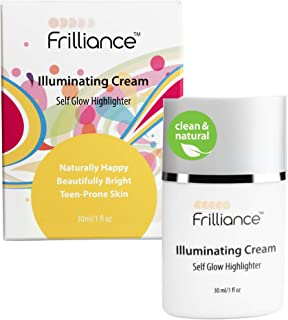 Frilliance Illuminating Cream, Hydrating Self Glow Highlighter, Cruelty Free Hypoallergenic for Teens of All Skin Types, 3...