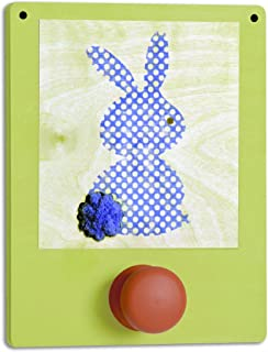 Tree by Kerri Lee Wuzzy Wall Hook Bunny, Green/Blue