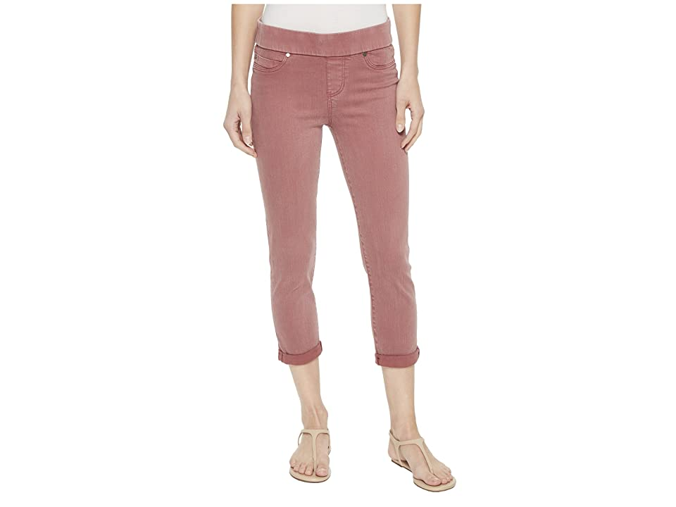 Liverpool Sienna Pull-On Rolled Capris in Slub Stretch Twill Roan Rouge (Roan Rouge) Women